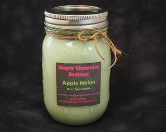 16 oz Apple Melon Soy Candle