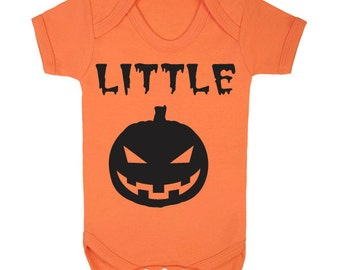 Little Pumpkin funny cute babygrow bodysuit