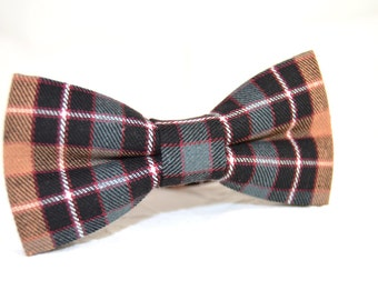 Plaid bow tie, tartan bow tie, black and teal plaid bow tie, mens bow tie, bow tie for men