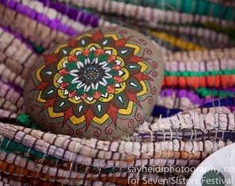 Mandala art on stone