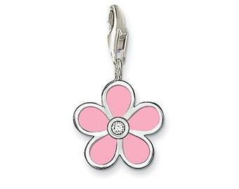 charms argent divers nature fleur rose,Bracelet Charm,sterling silver charm,Bracelet européen,pendentif, Style Européen à breloques
