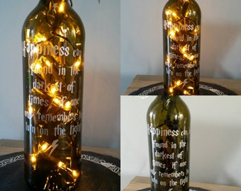 Dumbledore quote Harry Potter inspired bottle light