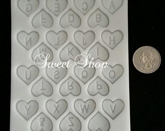 Heart Alphabet Mold