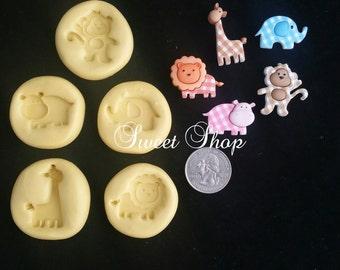 5 Pcs. Baby Safari Mold Set