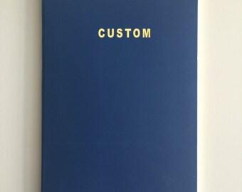 Antwerp Blue Moleskine Journal / Notebook with Gold Foil Print