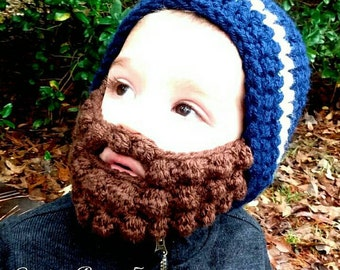 Baby beard beanie (Baby beard hat) Customizable colors!