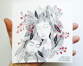 Postcard cultivating love for granted
