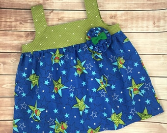 Clearance Size 4/5 Kermit the Frog Tilly Top Ready To Ship