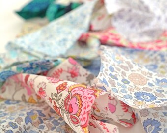 Scrappy Boho Pack - Liberty Tana Lawn Fabric remnants offcuts 50g / 100g, Large or Small pack, boho and patchwork
