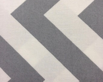 Half Moon Modern for Moda Half Yard Cut and Yardage Available Grey White Chevron  32349 21