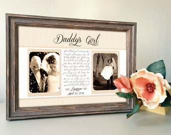 Dad Father Of The Bride Gift Father Thank You Gift Picture Frame Wedding Dad, Of All The Walks We've Taken This One Is My Favorite
