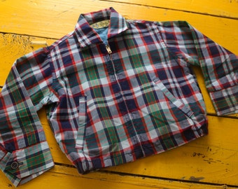 Vintage 3T BOY Plaid Spring Jacket by Pickwick, vintage boy 3T coat, retro 3T vintage coat, retro plaid boy 3T, retro boy's jacket 3T