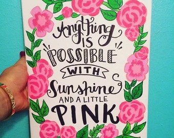 Lilly Pulitzer Canvas Quote 9x12