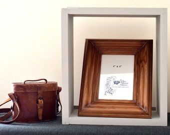 Reclaimed wood photo frame: 'Toffee'