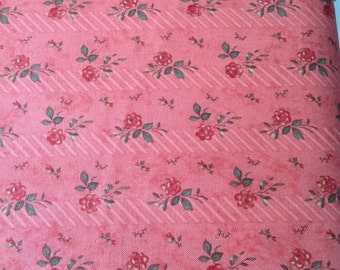 Vintage fabric, Hollywood and Vines, by 3 Sisters, for Moda,  Rouge Floral Fabric, Fabric by the yard, cut from the bolt, OOP