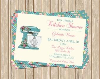 Custom Shabby Chic Kitchen Mixer Invitation - Bridal Shower - Baby Shower - Housewarming