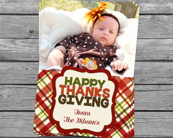 SALE 75% OFF Custom Photograph Thanksgiving Card