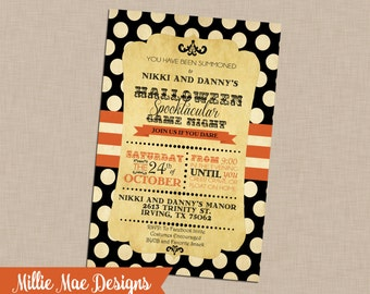 SALE 25% OFF Antique Halloween Invitation