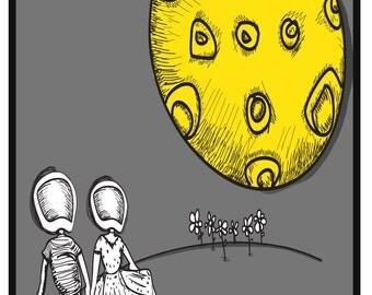 Moon Couple Print