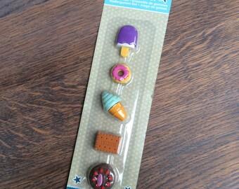 Set of 5 ice cream / cookie erasers (OV01)