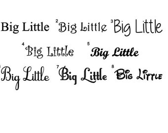 Free Shipping***DIY Big Little Iron On Decals