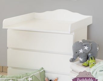 Cloud 4 - Changing table top, changer for IKEA Malm dresser. New. White. (without dresser)