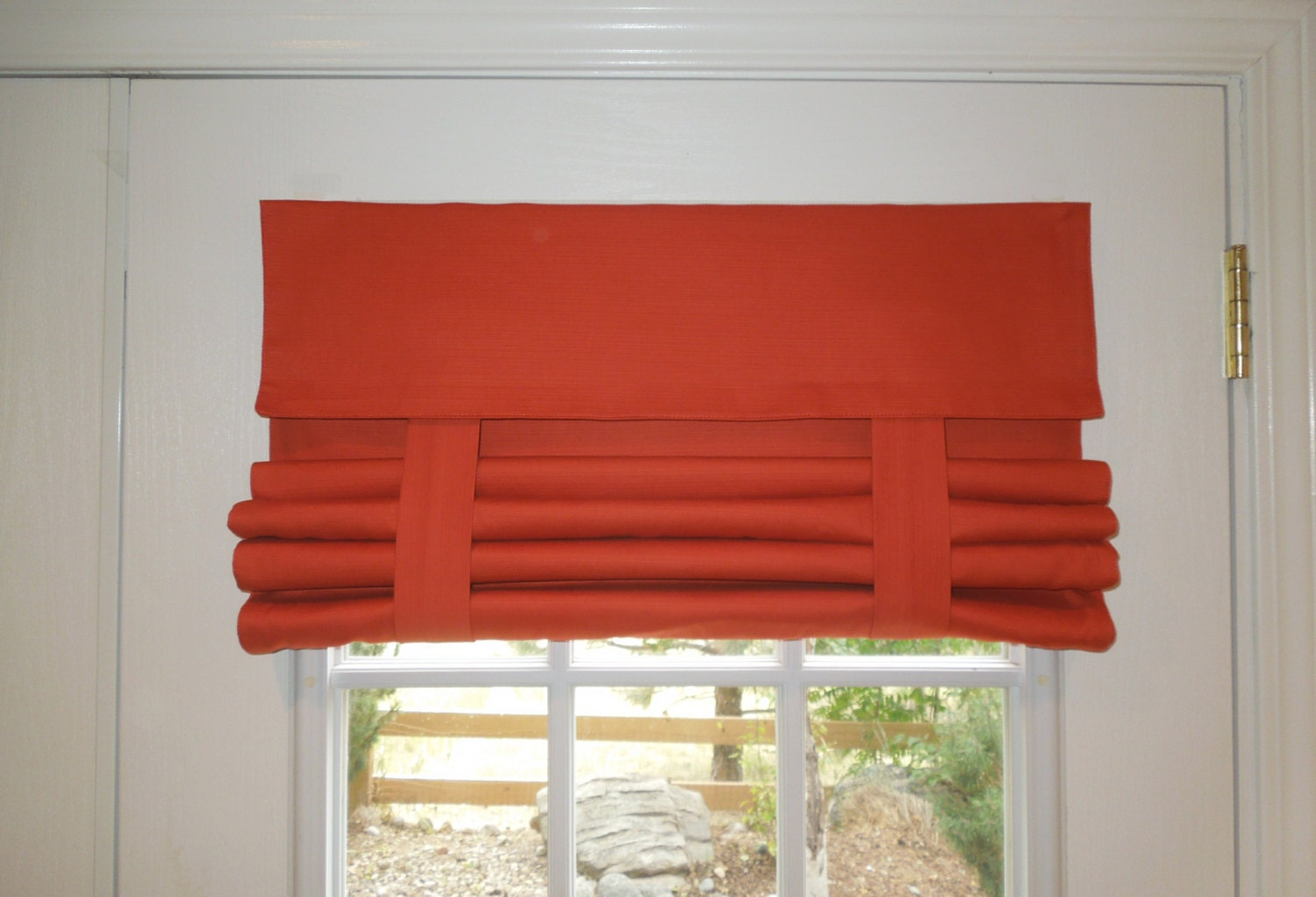 orange french door curtain