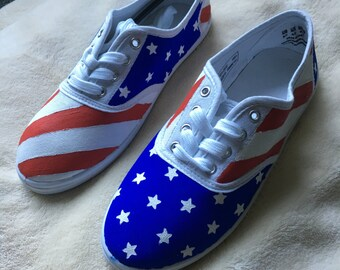 American Flag Handpainted Shoes