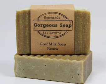 Renew Goat Milk Soap - All Natural Soap, Handmade Soap, Homemade Soap, Handcrafted Soap