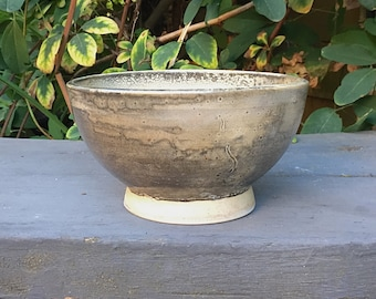 White Shino Stoneware Soup Bowl