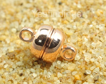 FINDING,Rose Gold plated Magnetic Clasp,7mm ,20 set