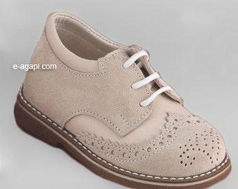 Oxford baby boy shoes blue brown ecru grey leather wingtips shoes baby wedding shoes baby boy baptism shoes size 4 5 6 7 8 9 US EU17359A3025