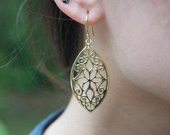 Dangling earings ethnic earings golden earings Cadara