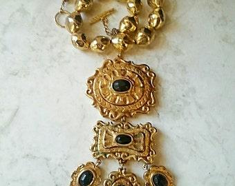 Vintage Christian Lacroix Necklace, Statement, Designer, Signed