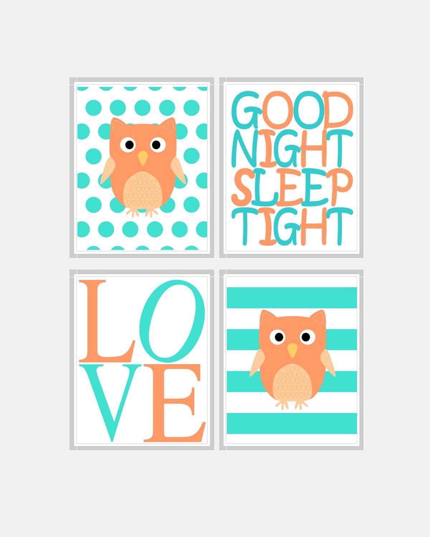 Baby Girl Nursery Art Owl Nursery Art Owl Nursery Decor