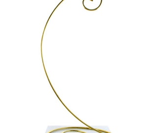 10.5 Spiral Bottom Christmas Ornament Stand in Brass Finish