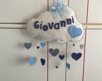 Stitchable cloud with hearts