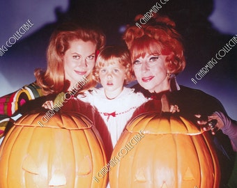 """ELIZABETH MONTGOMERY, Agnes Moorehead, Erin Murphy 8x10 or 11x14 Photo Print Hollywood BEWITCHED Actress 1967 """"A Safe and Sane Halloween"""""""