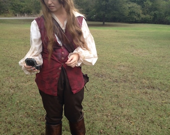 Elizabeth Swann, Pirates of the Caribbean: Dead Man's Chest cosplay vest > pirate > costumes > red > Disney
