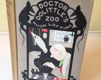 Doctor Dolittle's Zoo - Hugh Lofting 1925 1st Edition 1st Printing HB