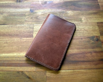 Kangaroo Leather Field Notes Cover - Brandy Colour. Mens Gift. Birthday Gift. Groomsman Gift. Bitcoin Accepted.
