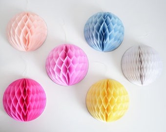 LARGE Tissue paper pom pom HONEYCOMB BALLS /party /birthday /wedding / decoration/ hanging pom poms ball