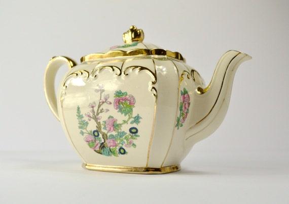Vintage Tea Pot Vintage Cream Tea Pot Vintage Ceramic Tea Pot