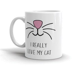 I really love my cat sublimation printing mug template