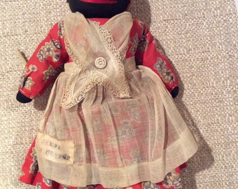 1920s Black Stocking Doll