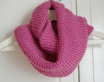 Hand-knitted Infinity Scarf / Cowl