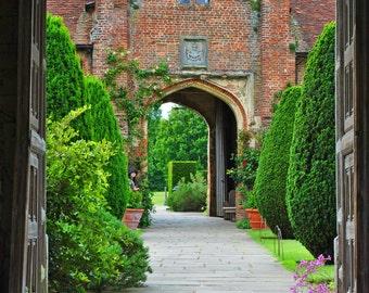 Garden Photography -England - Flower Garden -English Countryside -Tudor Castle Garden -Fine Art Photography-English Photography - Wall Art