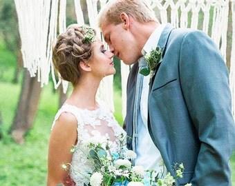 Romantic Macrame Hanging Wedding Garland for the Rustic Wedding Boho Bride