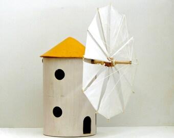 Aegean sea wooden Windmill