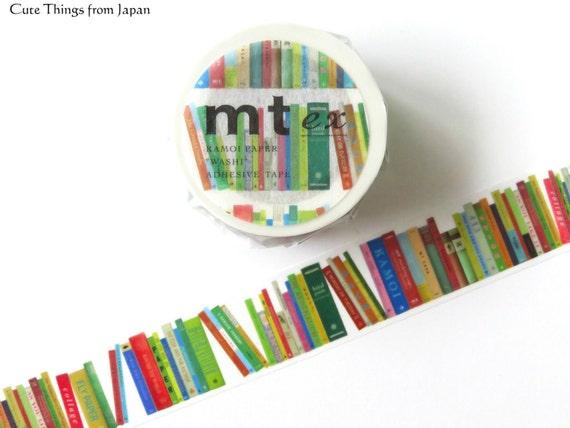 mt Book Washi Tape, Masking Tape, Bookshelf, Book Washi, MTEX1P112